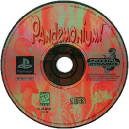 Artwork on the CD for Pandemonium! on the Sony Playstation.