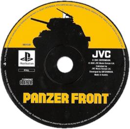 Artwork on the CD for Panzer Front on the Sony Playstation.