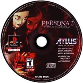 Artwork on the CD for Persona 2: Eternal Punishment on the Sony Playstation.