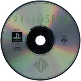 Artwork on the CD for Philosoma on the Sony Playstation.
