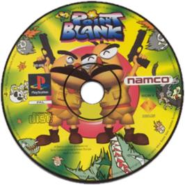 Artwork on the CD for Point Blank on the Sony Playstation.