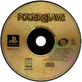 Artwork on the CD for Powerslave on the Sony Playstation.