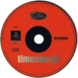 Artwork on the CD for Pro Pinball: Timeshock! on the Sony Playstation.