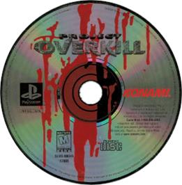 Artwork on the CD for Project Overkill on the Sony Playstation.