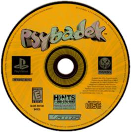 Artwork on the CD for Psybadek on the Sony Playstation.