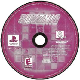 Artwork on the CD for Puzznic on the Sony Playstation.