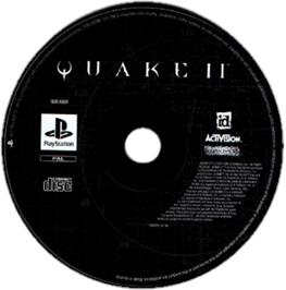 Artwork on the CD for Quake II on the Sony Playstation.
