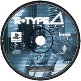 Artwork on the CD for R-Type Delta on the Sony Playstation.
