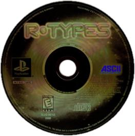 Artwork on the CD for R-Types on the Sony Playstation.