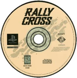 Artwork on the CD for Rally Cross on the Sony Playstation.