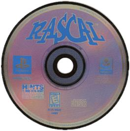 Artwork on the CD for Rascal on the Sony Playstation.