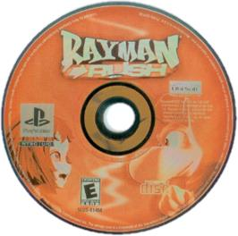 Artwork on the CD for Rayman Rush on the Sony Playstation.