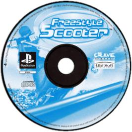 Artwork on the CD for Razor Freestyle Scooter on the Sony Playstation.
