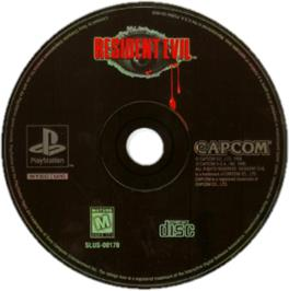 Artwork on the CD for Resident Evil: Director's Cut on the Sony Playstation.