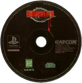 Artwork on the CD for Resident Evil on the Sony Playstation.