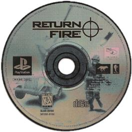 Artwork on the CD for Return Fire on the Sony Playstation.