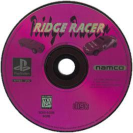 Artwork on the CD for Ridge Racer on the Sony Playstation.