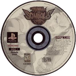 Artwork on the CD for Rival Schools: United by Fate on the Sony Playstation.