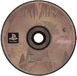 Artwork on the CD for Riven: The Sequel to Myst on the Sony Playstation.