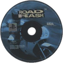 Artwork on the CD for Road Rash on the Sony Playstation.