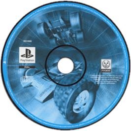 Artwork on the CD for Rollcage on the Sony Playstation.