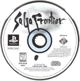 Artwork on the CD for Saga Frontier on the Sony Playstation.