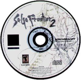 Artwork on the CD for Saga Frontier 2 on the Sony Playstation.