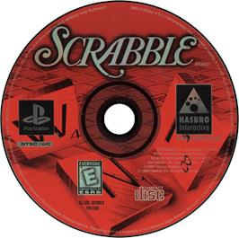 Artwork on the CD for Scrabble on the Sony Playstation.