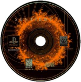 Artwork on the CD for Sentient on the Sony Playstation.
