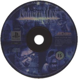 Artwork on the CD for Shadow Man on the Sony Playstation.