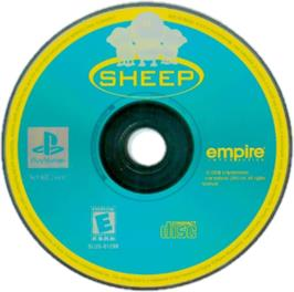 Artwork on the CD for Sheep on the Sony Playstation.