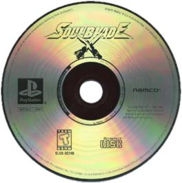 Artwork on the CD for Soul Blade on the Sony Playstation.