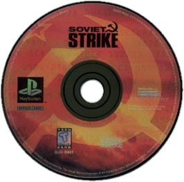 Artwork on the CD for Soviet Strike on the Sony Playstation.
