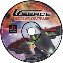 Artwork on the CD for Space Debris on the Sony Playstation.
