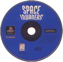Artwork on the CD for Space Invaders on the Sony Playstation.