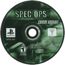 Artwork on the CD for Spec Ops: Covert Assault on the Sony Playstation.