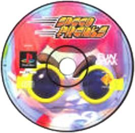 Artwork on the CD for Speed Punks on the Sony Playstation.