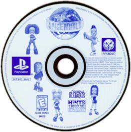 Artwork on the CD for Spice World on the Sony Playstation.