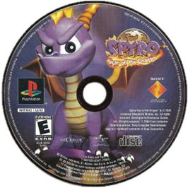 Artwork on the CD for Spyro: Year of the Dragon on the Sony Playstation.