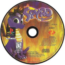 Artwork on the CD for Spyro the Dragon on the Sony Playstation.
