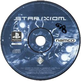 Artwork on the CD for Star Ixiom on the Sony Playstation.