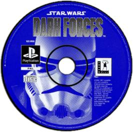 Artwork on the CD for Star Wars: Dark Forces on the Sony Playstation.