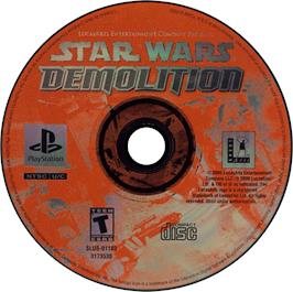 Artwork on the CD for Star Wars: Demolition on the Sony Playstation.