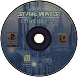 Artwork on the CD for Star Wars: Episode I - The Phantom Menace on the Sony Playstation.