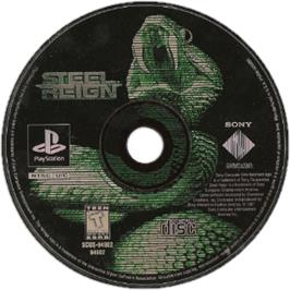 Artwork on the CD for Steel Reign on the Sony Playstation.