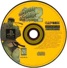 Artwork on the CD for Street Fighter Collection 2 on the Sony Playstation.