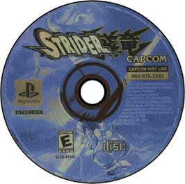 Artwork on the CD for Strider on the Sony Playstation.