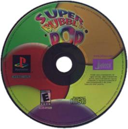 Artwork on the CD for Super Bubble Pop on the Sony Playstation.