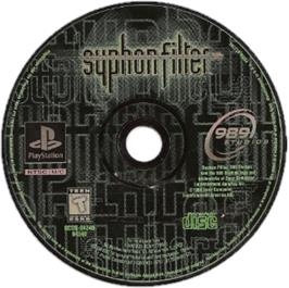 Artwork on the CD for Syphon Filter on the Sony Playstation.