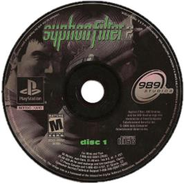 Artwork on the CD for Syphon Filter 2 on the Sony Playstation.